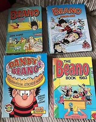 The Beano Job Lot Books 1981 1983 Annual 2012 And Sticker Book