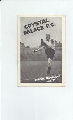 Crystal Palace v Swindon Programme + Press cutting & Supporters Insert 1946/47