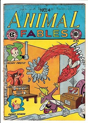 Animal Fables #4 – EC Parody of Timely Human Torch Marvel Mystery! RARE! 1947