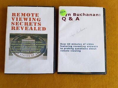 Lyn Buchanan Remote Viewing Secrets Revealed - 2 CD's One is Signed - Conspiracy