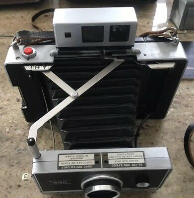 Vintage Polaroid Automatic 250 Land Camera And 100 And Accessories