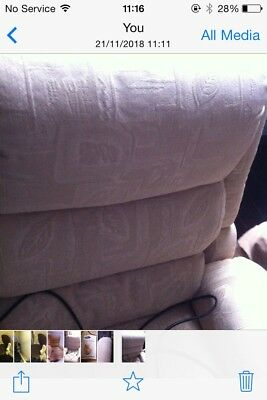 Recliner/riser chair cream excellent condition