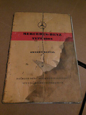 1959 Mercedes Benz 220S Owner's Manual English