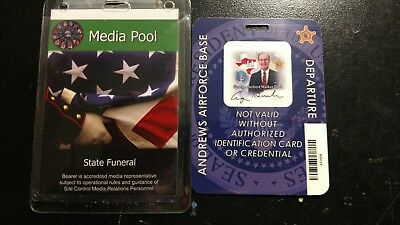 George H.W. Bush funeral Andrews Airforce Base departure press pass