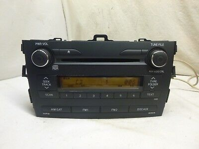 09 10 Toyota Corolla Radio Cd MP3 Player A518A0 86120-02A90  DRZ37