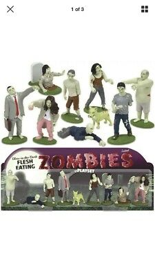 Glow in the Dark Zombies Playset with Nine Flesh Eating Undead Toy Figures