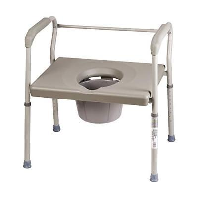 DMI Bedside Commode Chair, 500 lb Capacity Heavy-Duty Steel Toilet Chair