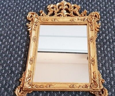 Antique style Painted Gold Carved Framed Ornate Wall/Tabble Mirror