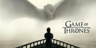 Poster In Vetro Game Of Thrones 25X50 Tyrion Lannister & Dragon On Glass Drogon