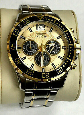 Invicta 16288 Specialty Chronograph Two-Tone Gold Dial Men's Watch WARRANTY
