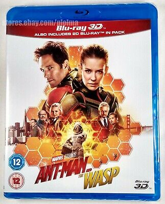 ANT-MAN AND THE WASP Brand New 3D BLU-RAY (and 2D) Marvel Cinematic Universe MCU