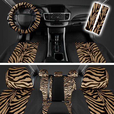 Groovy Zebra Animal Print Full Seat Cover Set Fits Car Truck Van Machost Co Dining Chair Design Ideas Machostcouk