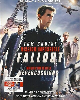 MISSION: IMPOSSIBLE 6 FALLOUT BLURAY & DVD & DIGITAL SET with Tom Cruise