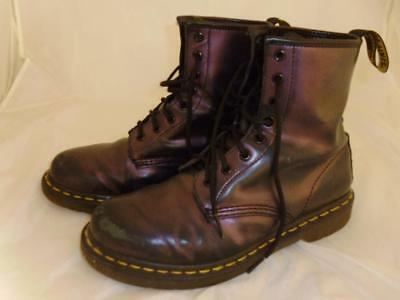 Dr Martens Air Wair Boots with Bouncing Soles, Metallic Purple