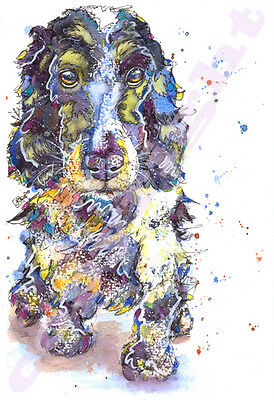 COCKER SPANIEL Print from Original Watercolour Dog Painting Picture by JOSIE P