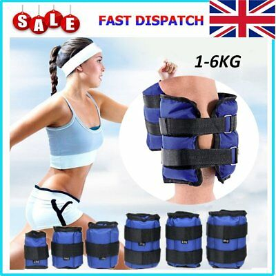 Ankle Weight Strength Exercise Wrist Bracelets Straps 1KG 2KG 3KG 4KG 5KG 6KG UK