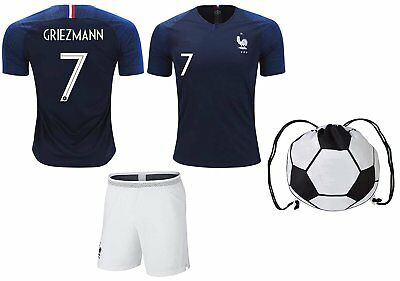 size 40 7ee53 818ff FRANCE GRIEZMANN #7/POGBA #6 Soccer Jersey & Shorts Kids Youth Sizes  Football...