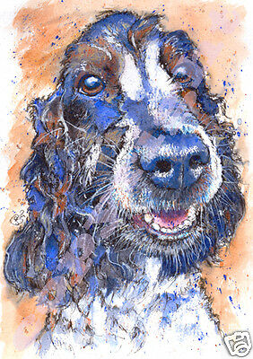 COCKER SPANIEL Dog Print from Original Watercolour Painting Picture by JOSIE P