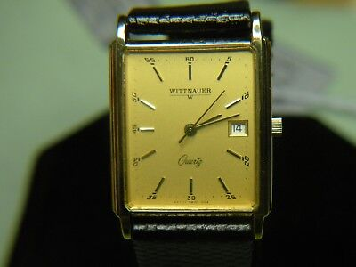 "Mens Rare & Vintage Wittnauer ""continental"" Swiss Watch Nos  #6145001-2  Wow!!!"