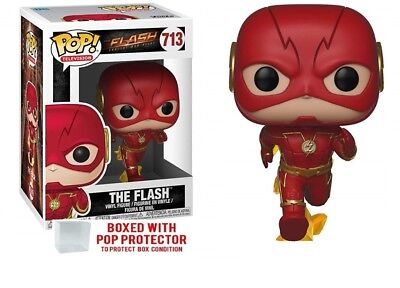 Funko Pop Television: Running Flash #713 Collectible Figure with protector case