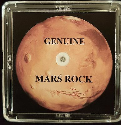BASIC EDITION- AUTHENTICATED MARTIAN METEORITE-5mg Mars Rock Display+Certificate
