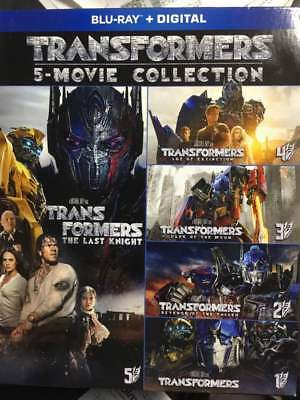Transformers 5-Movie Collection Blu-Ray No Digital/Slip Like New FREECombineShip