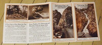 Original 1930's Seven Falls South Cheyenne Canyon Pikes Peak Colorado Brochure