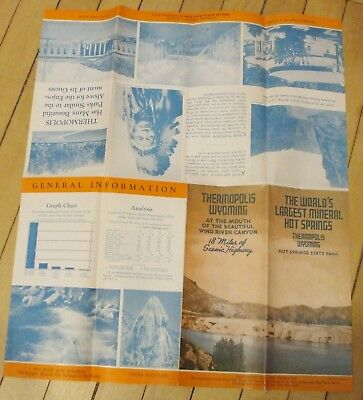 Original 1933 Thermopolis Wyoming Travel Brochure Nice Condition Map Rodeo