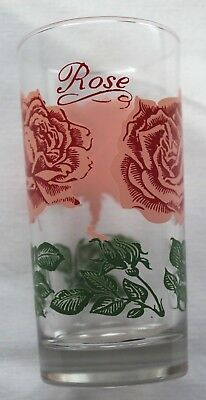 "VERY RARE Boscul peanut butter glass tumbler 5 1/2"" Collins Rose BC06"