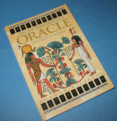 THE ANCIENT EGYPTIAN ORACLE by PLASKETT 1998 1ST ED BOXED SET VINTAGE RARE