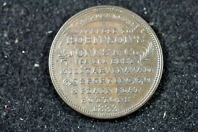 1836 - R&W Robinson Hard time Token Military,Buttons,Naval & Sporting!! #H17915