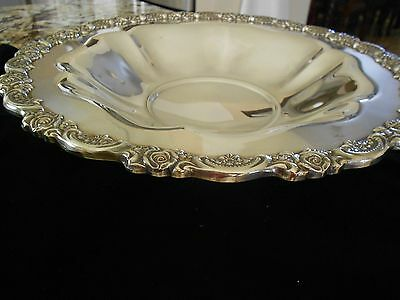 """Oneida 12"""" silverplate footed bowl"""