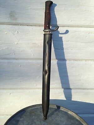 Vintage WW1 German Bayonet Dated 1917 Made in Solingen by E&F Horster