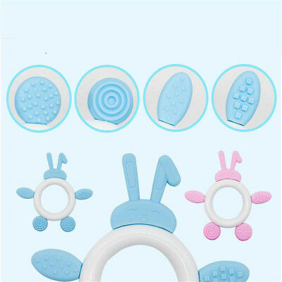 Silicone Baby Teether Toddler Teething Toy Ring Chewable Soother JA