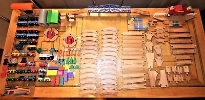 Wooden Train Playset- Light/sounds-Drawerbridges-Turntables-163 Pieces