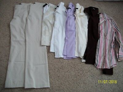 Lot of 8 Women's Dress clothes Express/The Limited Pants/Tops Size XS/1/2