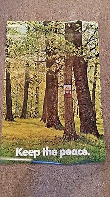 VINTAGE SMOKEY THE BEAR and WOODSY OWL Posters 1960, 1973 ORIGINAL FOREST SERVIC