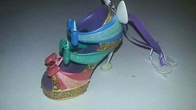 DISNEY PARKS 3 FAIRY GODMOTHER RUNWAY SHOE Sleeping Beauty ORNAMENT