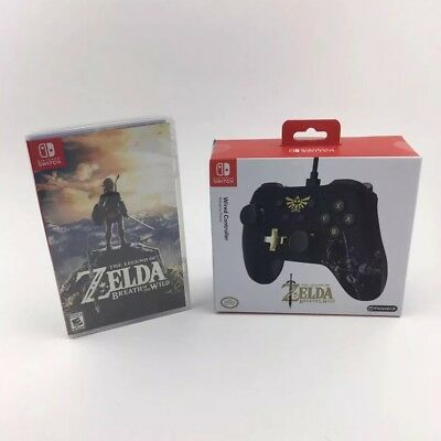 The Legend of Zelda: Breath of The Wild Nintendo Switch GAME & WIRED CONTROLLER