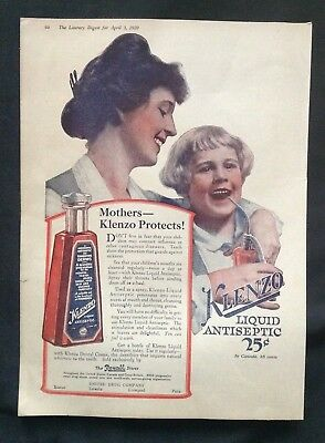1920 Vintage Ad  Klenzo Antiseptic Rexall Store Advertising  Gargoyle Vacuum Oil