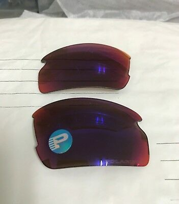 New 1 pc Authentic Oakley Flak 2.0 OO Red Iridium Polarized Replacement Lens