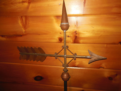 Vintage Copper Top WEATHERVANE / Handmade 5 Ft. High Heavy Barn Weathervane
