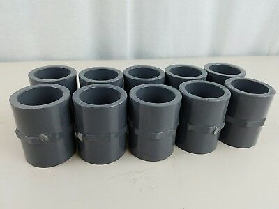 10 Lasco SCH80 schedule 80 1-1/4 PVC Pipe Coupling D2464/D2467
