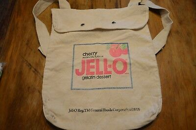 Rare Vintage Cherry Jello Gelatin Advertising Canvas Bag,backpack 12 X 15""