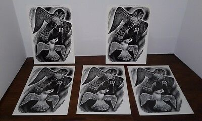 5 The Dove And The Hawk by Fritz Eichenberg Card Prints Peace Museum