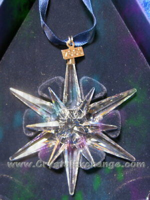 Swarovski Crystal Christmas Star Snowflake 2005 Ornament 680502 MIB+COA