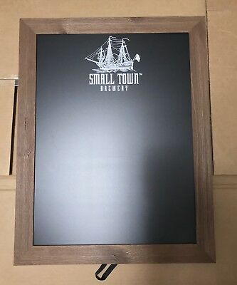 """Small Town Brewery Wood Framed Chalkboard Beer Sign 28x21"""" - Brand New In Box!"""
