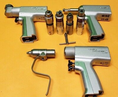 Stryker System 5 Set, 4106 Recip,4205 Rotary,4208 Sagittal Saw,4103-126 Collet