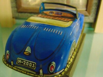 RARE Tin Litho  Vintage VW Hebmuller Cabriolet / Bright paint no Fade