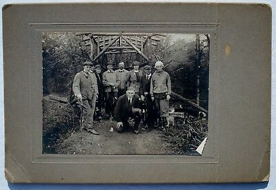 Vintage May 1920 MAMMOTH CAVE KENTUCKY Group Photo NEXT TO RUSTIC WOOD ARCH